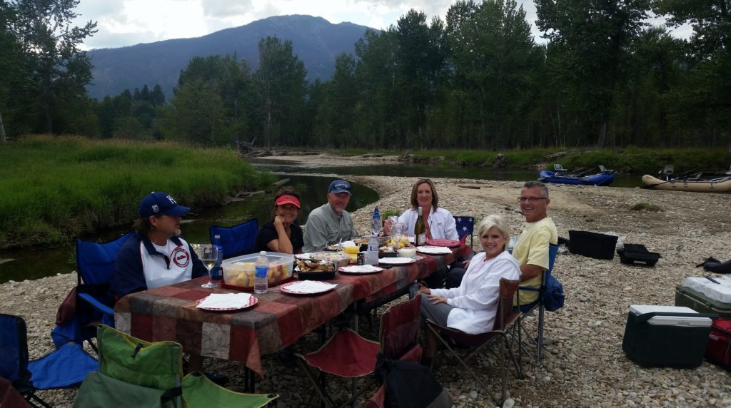Scenic Rafting Dinner Float Bitterroot River