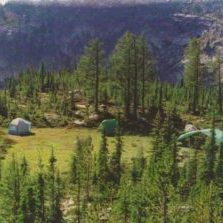 Overnight fly fishing camp